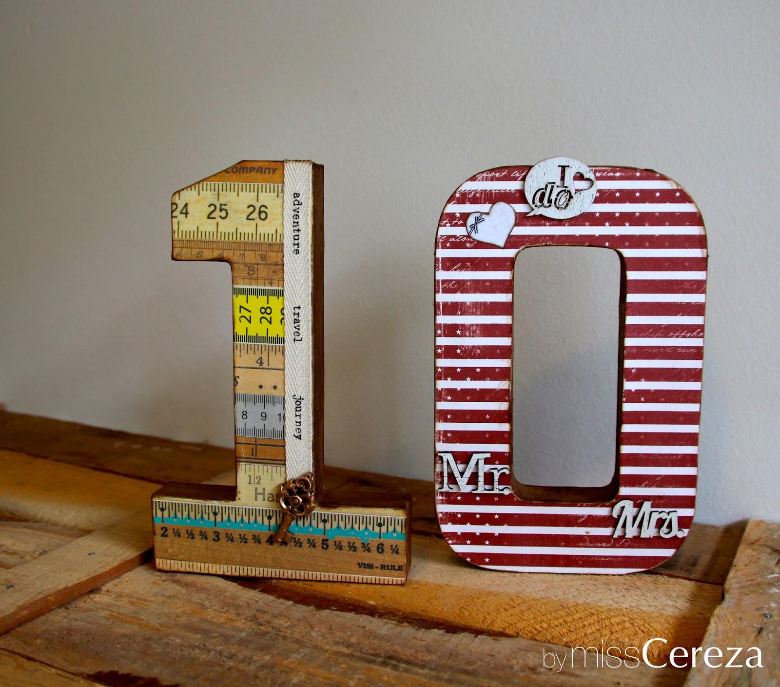 letras de cartón decoradas