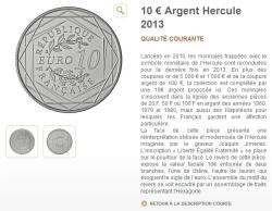 capture d'écran du site de la Monnaie de Paris