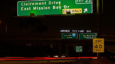 """""""DRONES FLY KIDS DIE"""" - Overpass Light Brigade"""