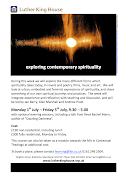 LKH Summer School, Exploring Contemporary Spirituality