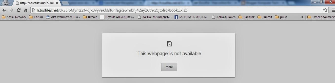 Cara Mudah Mengatasi Error Saat Download Di Tusfiles