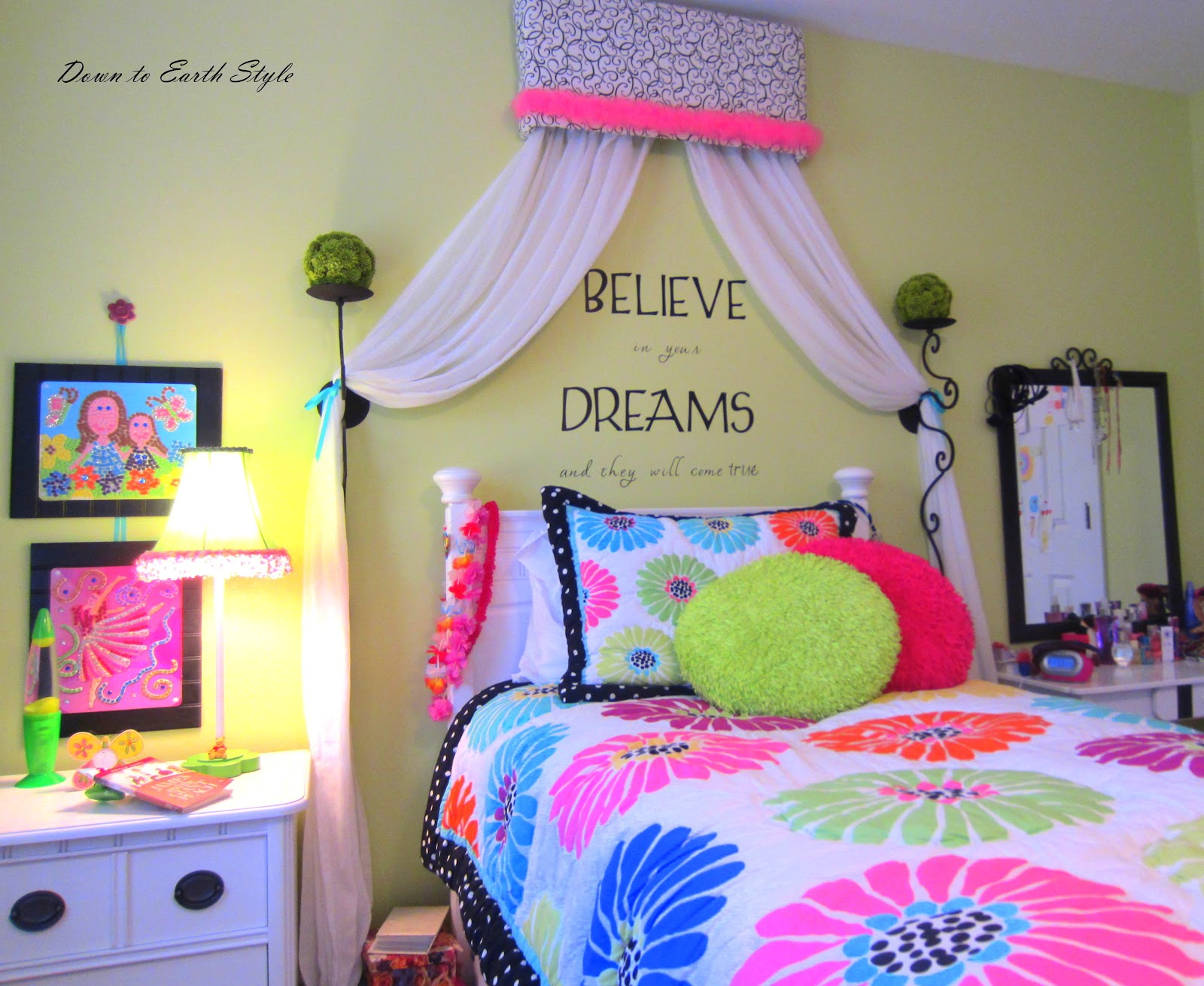 Down To Earth Style Tween Girl Room