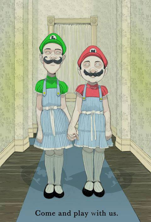 mario luigi as shining sisters come and play with us