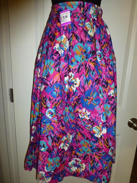 Aztec floral print skirt