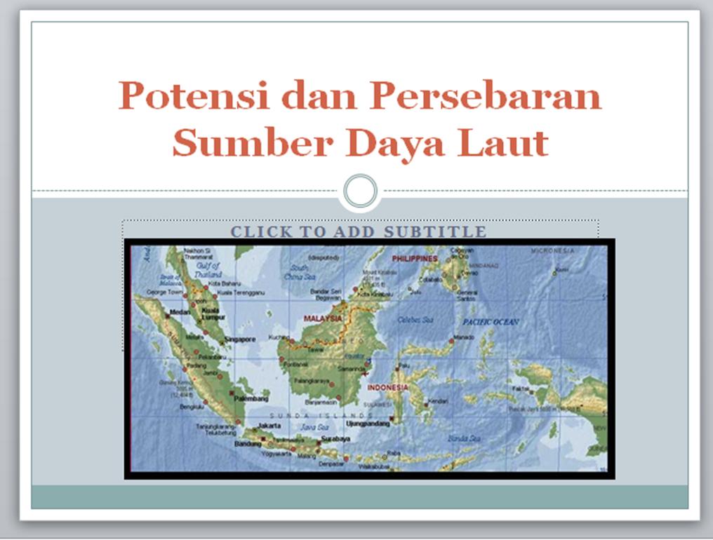 Potensi Dan Persebaran Sumber Daya Laut Smp Negeri 6 Unggulan Pangsid