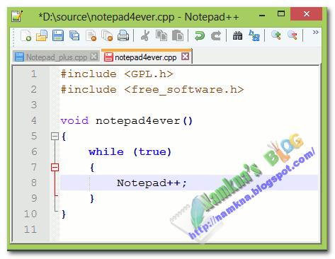 Tìm và thay thế cụm từ khi dùng notepad++