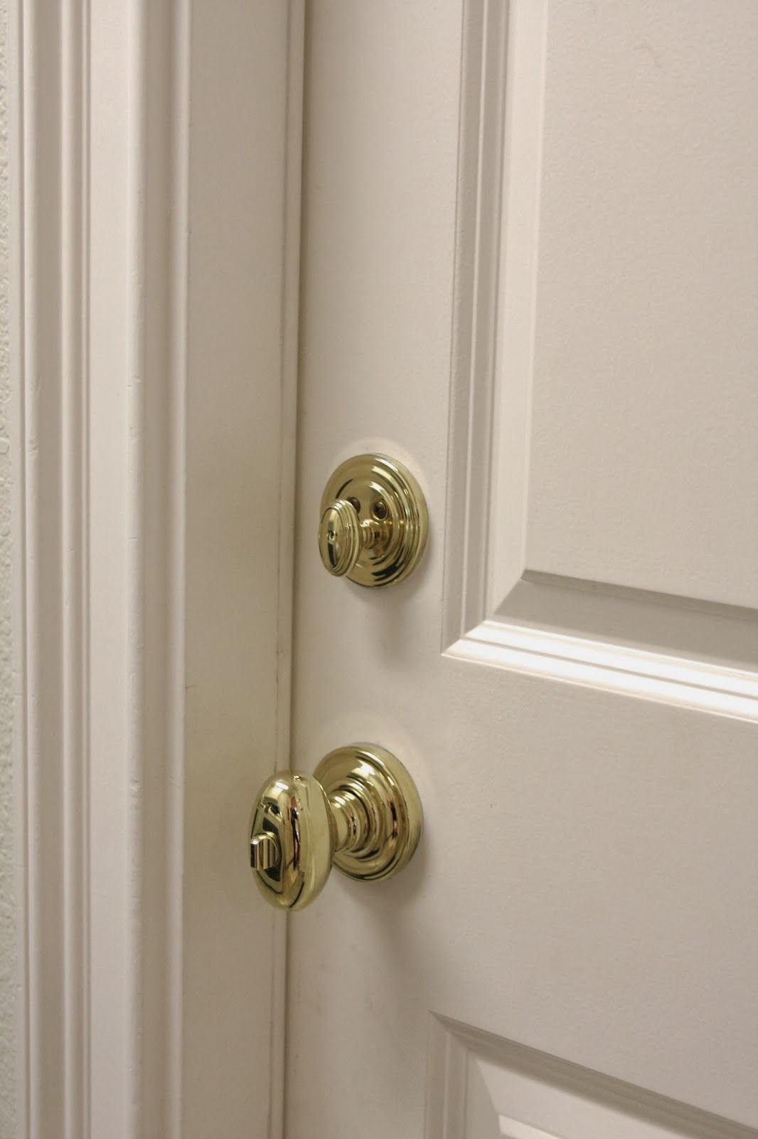 Brass bathroom door handles - The Doors With Knobs Were Basically Any Door That Was An Exterior On The Other Side Hello I Did Need To Lock Some Doors Around Here Locking A Bathroom
