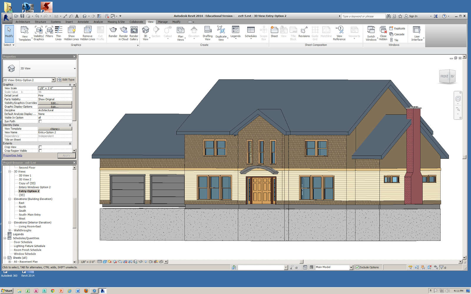Front Elevation Design In Revit : S stem scholar maha jawad