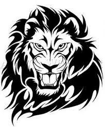 Motif Tato Singa Hitam Putih 22