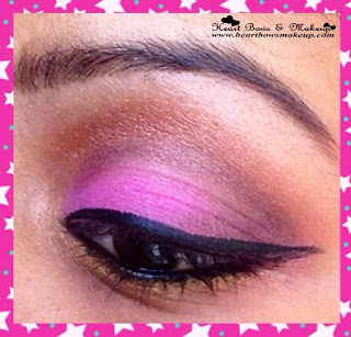 pink and bronze party eyemakeup tutorial