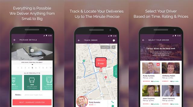 Etobee jasa pengiriman barang/paket melalui aplikasi.