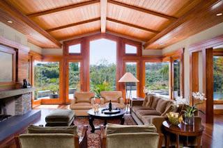 แบบฝ้าเพดานไม้