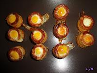 Nidos de huevo de codorniz con sorpresa