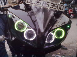 R15 V2 Modified With Projector Lights R15 Black double proje...