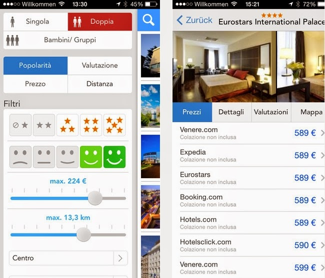 APP TRIVAGO GRATIS PER IPHONE IPAD IPOD TOUCH IN ITALIANO