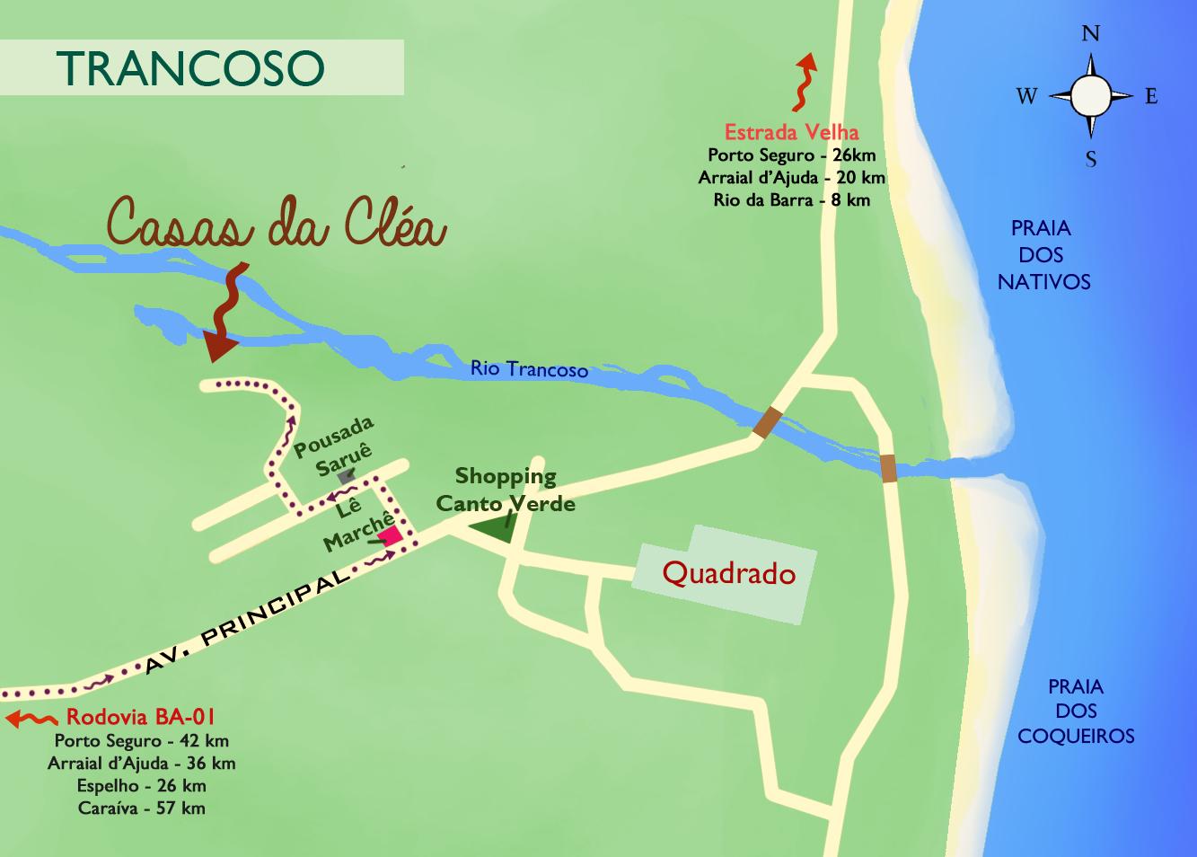Mapa Casas da Cléa