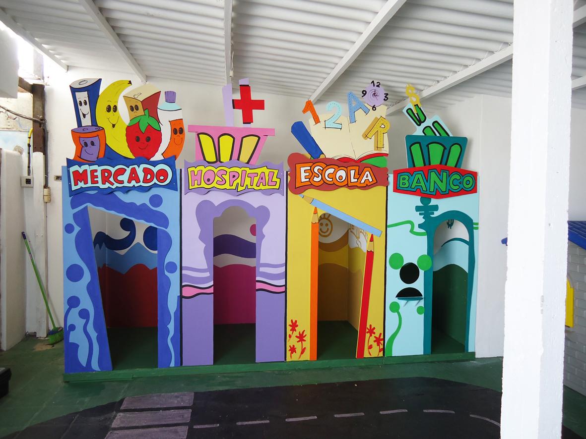 Suficiente Arte Poesia Decoração Cenografia: Projeto Mini Cidade para escola  EQ07
