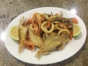 Burumbaya de marisco y pescado