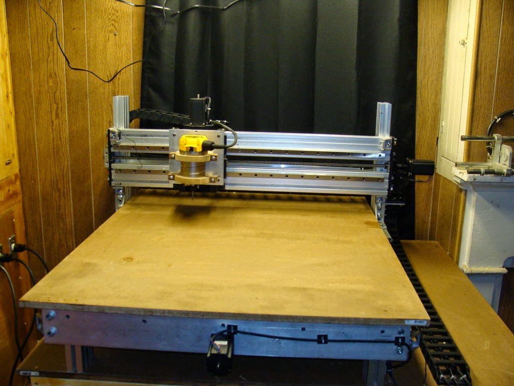 Diy 3d printing jon 39 s homemade cnc router converted into for Diy router