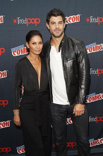 Stitchers stars Salli Richardson and Damon Dayoub at New York Comic Con