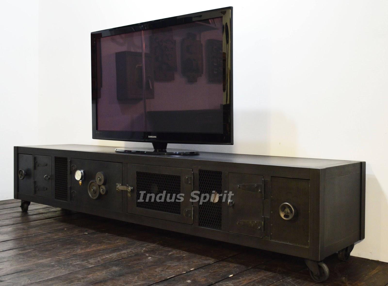meuble tv industriel xxl. Black Bedroom Furniture Sets. Home Design Ideas