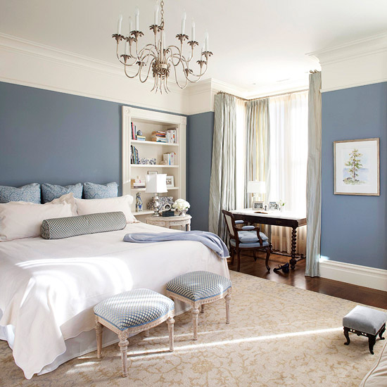 Color For Bedrooms Simple Of Slate Blue Master Bedroom Image