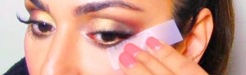 maquillaje con celo en los ojos arabe belly dance