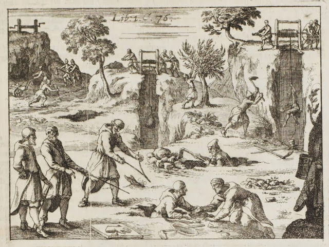 17th century engravings of mining scene