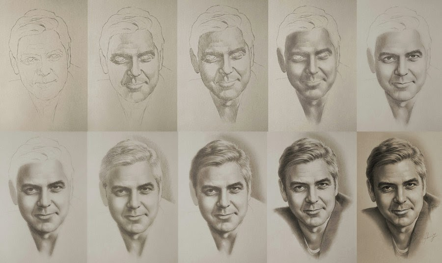01-George-Clooney-WIP-krzysztof20d-2b-and-8b-Pencils-Clear-Pastel-Celebrity-Drawings-www-designstack-co