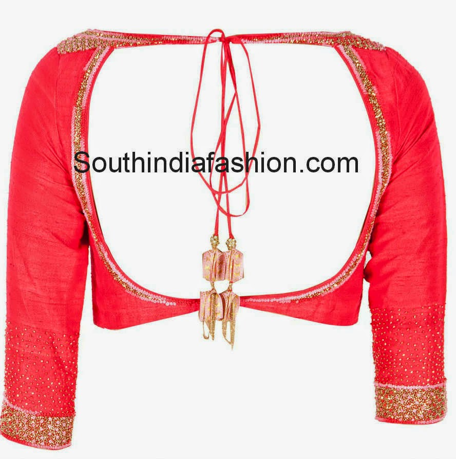 latest saree blouse models