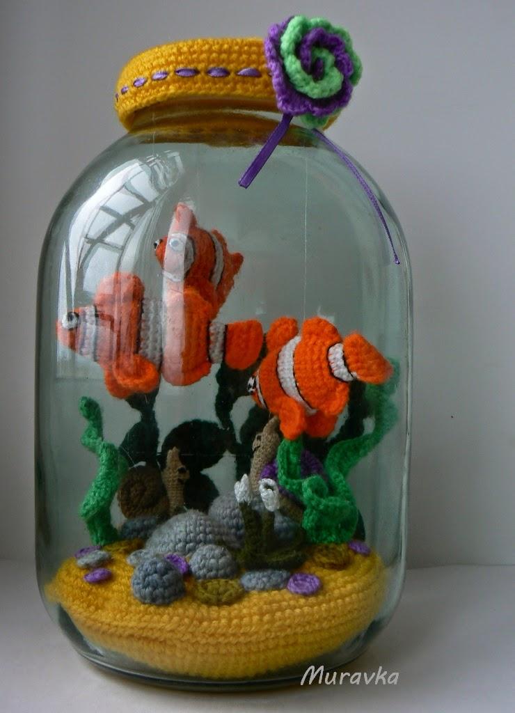 Как из банки сделать аквариум