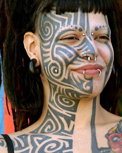 Labels Face Tattoos