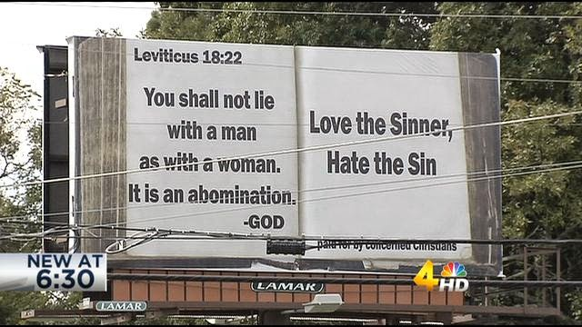 TN Billboard Quotes Leviticus to Condemn LGBT People