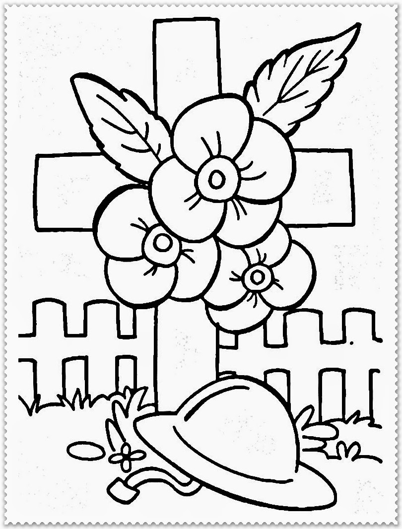 Remembrance Day Coloring Pages Realistic Coloring Pages - Poppies to remember coloring page