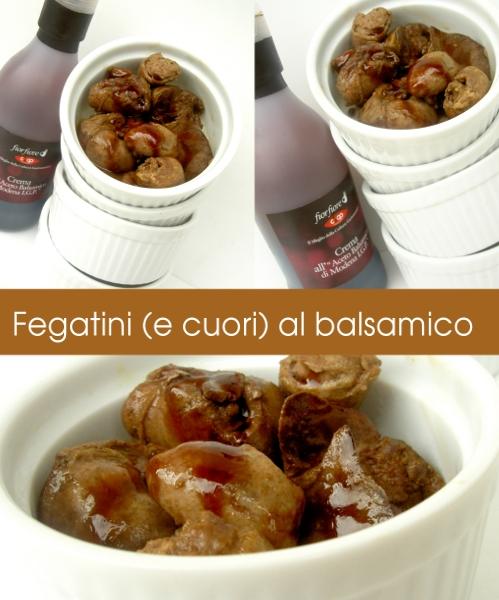 fegatini e cuori di pollo al balsamico