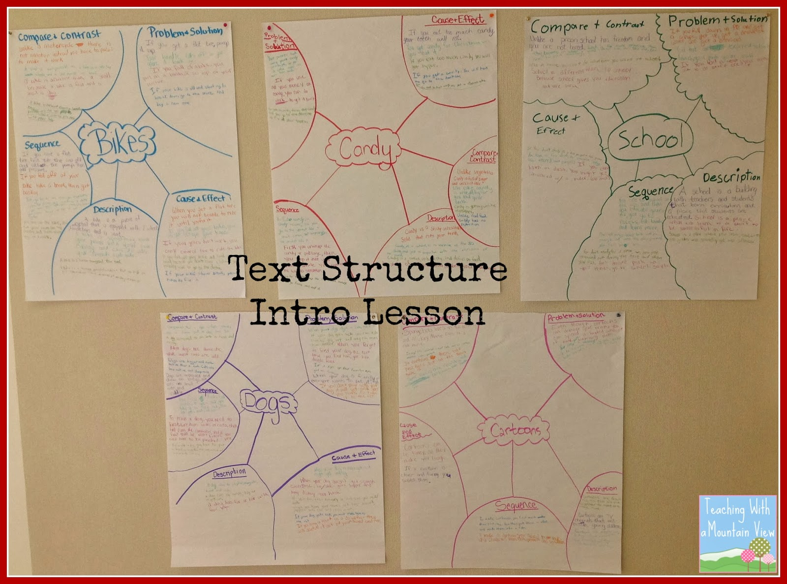 Teaching essay structure lesson