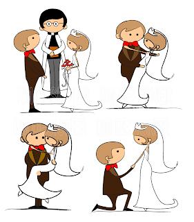 vetor noivinhos convite de casamento DIY