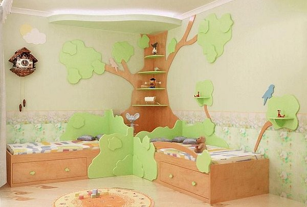 cats dogs bugs critters backyard tree house theme decorating - Cat Room Design Ideas