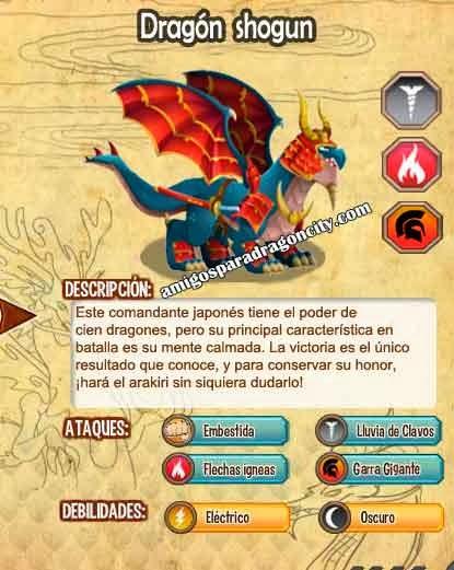 imagen de las caracteristicas del dragon shogun