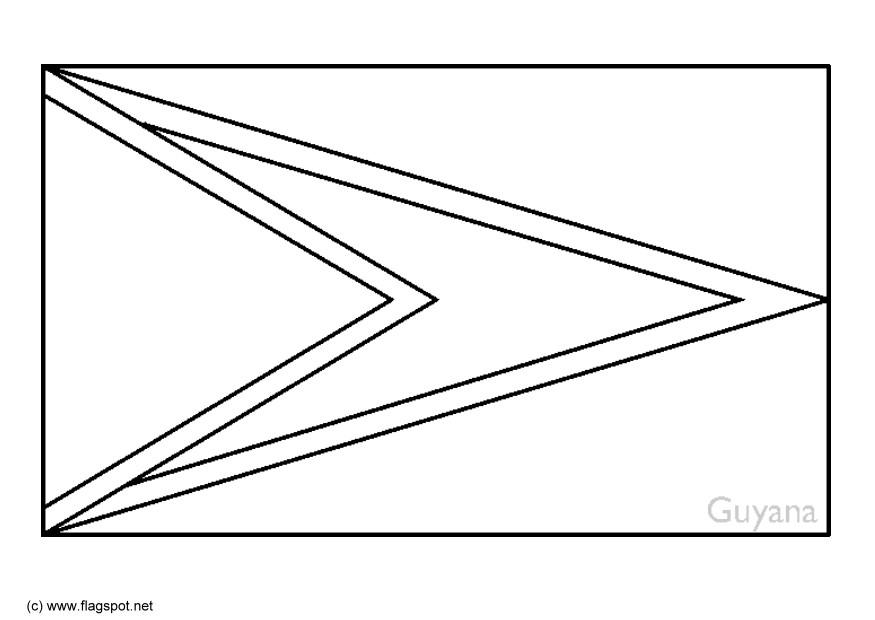 Image Guyana Flag Coloring Page Download Guyana Flag Coloring Page