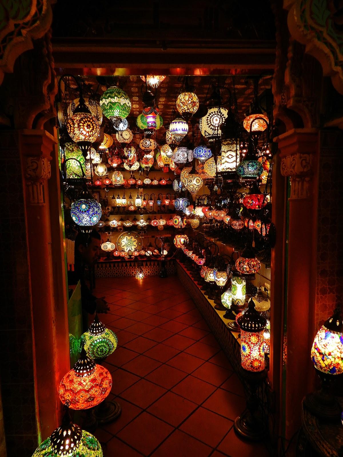 A Lamp Shop In The Albaicín. Granada, Spain.