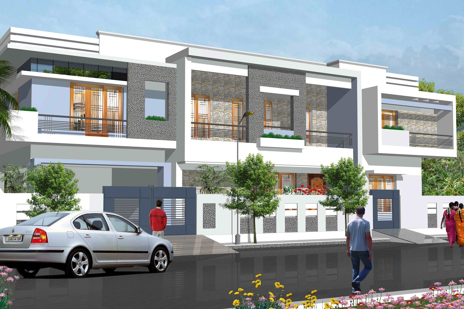 New home designs latest modern housing society home for Home design ideas 2012