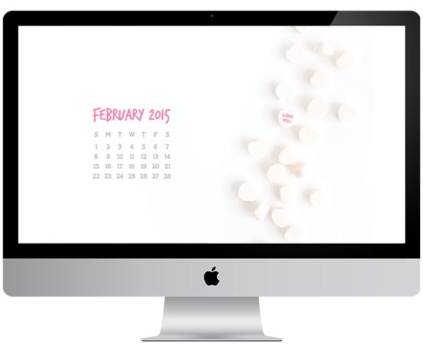 mai paper shop, desktop wallpaper, february 2015 calendar