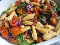 Macarrão com Tomates Assados (vegana)