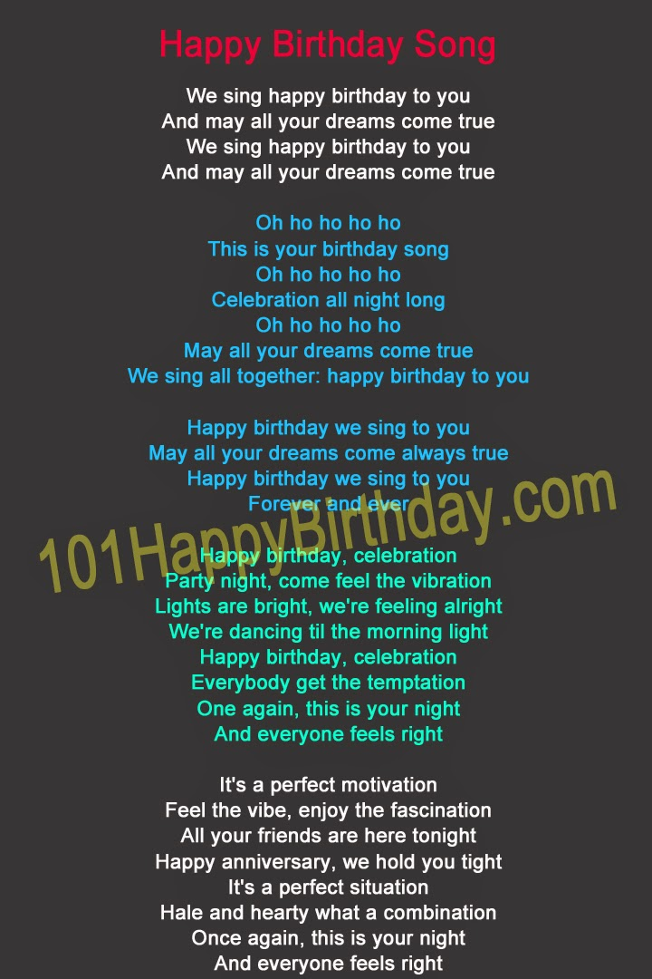 101 Happy Birthday New Post has been published on – Birthday Song Greetings