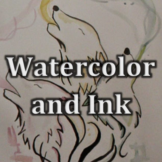 Painting (10-12) | Ink and Watercolor Painting