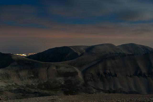 Monte Acquaviva di notte