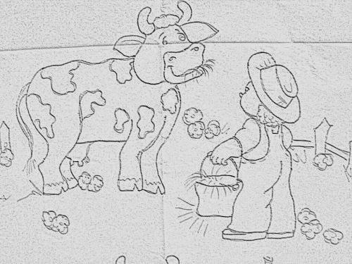 Moldes para patchwork e tecido e riscos para pintura de vaquinhas