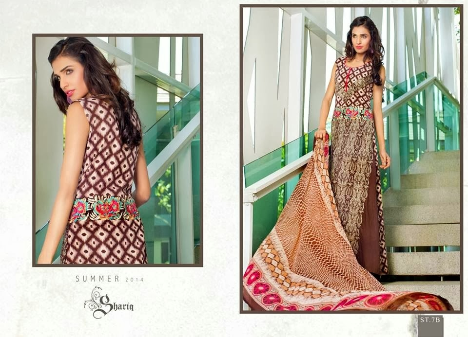 Summer Printed Lawn In Brown