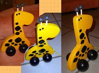 MeinLiLaLu Nachziehtier Giraffe